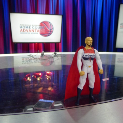Marcin Gortat action figure that was featured on the episode that night and given away to fans at that night's game.